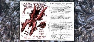 Illustration for article titled HR Giger Once Designed A Batmobile