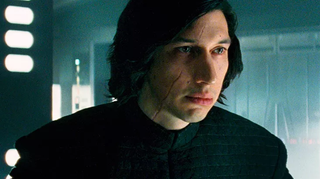 Adam Driver as Kylo Ren.