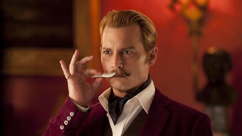 Illustration for article titled Weekend Box Office: Johnny Depp mustache himself where it all went wrong