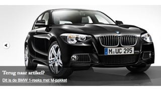 Illustration for article titled This is the new BMW 1 Series with M pack