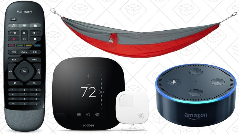 Illustration for article titled Today's Best Deals: Harmony Hub, Ecobee3, Camping Hammocks, and More