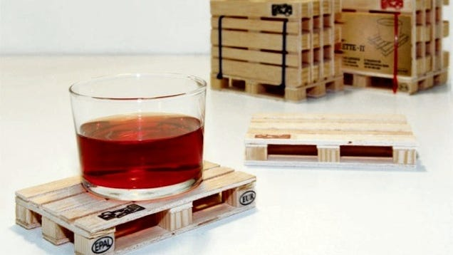 Drinks Placed On Pallet Coasters Should Be Served By A