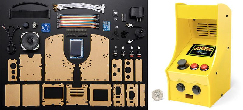 Illustration for article titled Build Your Own Adorably Tiny Arcade Cabinet With This DIY Kit