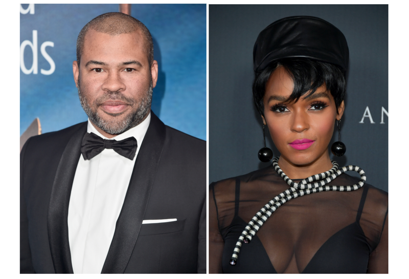 Jordan Peele (Alberto E. Rodriguez/Getty Images for 2018 Writers Guild Awards L.A. Ceremony); Janelle Monáe (Neilson Barnard/Getty Images)