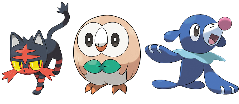 which starter did will you choose in pokemon sun and moon random
