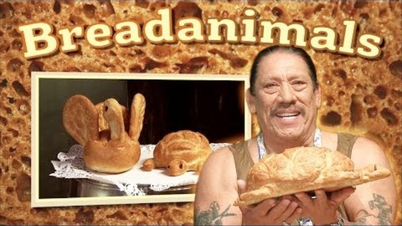 Illustration for article titled Danny Trejo exposes his soft, doughy underbelly in Danny Trejo's Breadanimals
