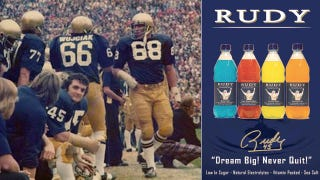Illustration for article titled Notre Dame's Rudy Used Scrappy, Undersized Sports Drink Company To Scam $11 Million Out Of Investors