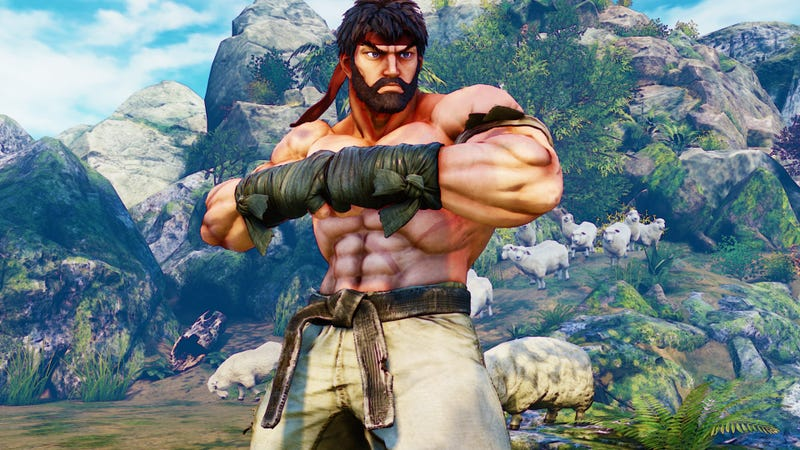 Illustration for article titled Street Fighter V's Bearded Ryu Is The Hottest Ryu