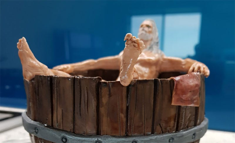 Illustration for article titled Witcher Birthday Cake Features Hot Tub, Dick