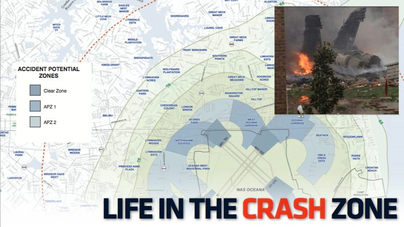 Illustration for article titled What It's Like To Live In The Virginia Beach Air Station Crash Zone