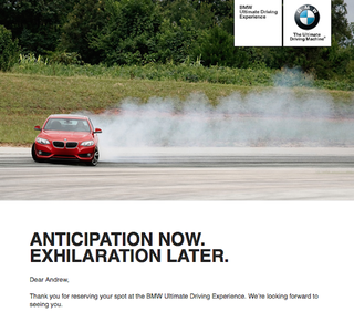 """Illustration for article titled Doing BMW's """"Ultimate Driving Experience"""" Today..."""