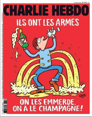 Illustration for article titled The Cover Of Charlie Hebdo That Came Out Today