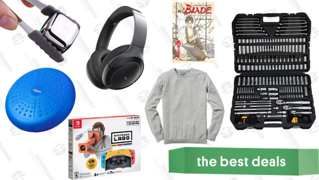 Sunday s Best Deals: Nintendo Labo, Wobble Cushions, Steel Ice Cubes, and More