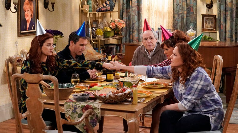 Illustration for article titled Will & Grace somehow manages to wring comedy from grief