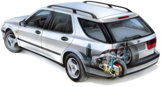 Illustration for article titled Saab Friction Testers Pack Hidden Fifth-Wheel in Every Trunk