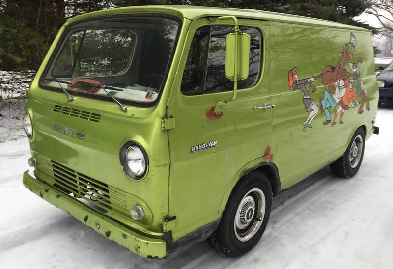 """Illustration for article titled For $7,000, Could This Cummins-Powered """"1968"""" Chevy Panel Van Be Your Mystery Machine?"""