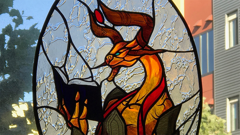 Illustration for article titled Stained Glass Inspired By Magic: The Gathering Is Extremely Good