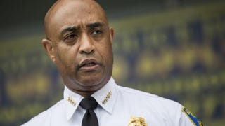 Then-Baltimore Police Commissioner Anthony Batts speaks at a press conference regarding the death of Freddie Gray April 30, 2015, in Baltimore.Andrew Burton/Getty Images