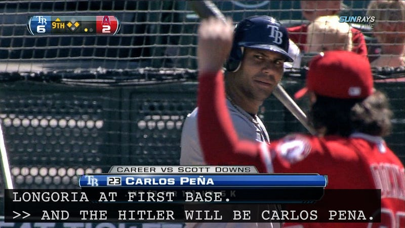 """Illustration for article titled There Are Closed Captioning Typos, And Then There's Calling Carlos Peña """"Hitler"""""""