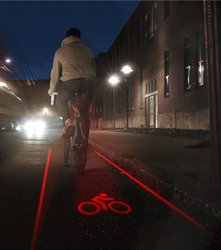 Illustration for article titled LightLane Ensures Cyclists a Bike Lane Wherever They Go