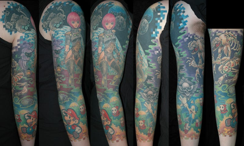 Illustration for article titled OK, This Gaming Tattoo Is Pretty Amazing Too