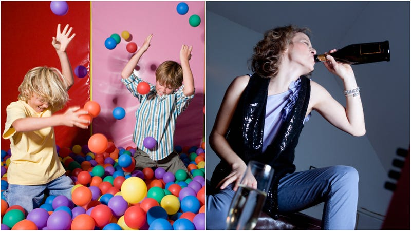 Illustration for article titled Kiddie playrooms finally incorporating million-dollar idea of adding drinks for parents