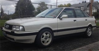 Illustration for article titled Would You Go $2,300 For A V8 1990 Audi 90 Quattro?