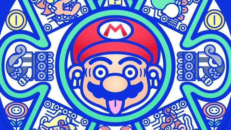 A crop of a piece called Mario Bros Tlaltikpakti artist Mr. Kone. It's part of a new exhibit of Mario art.