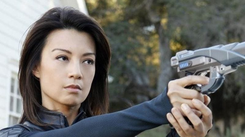 Ming-Na Wen as Melinda May on Marvel's Agents Of S.H.I.E.L.D.