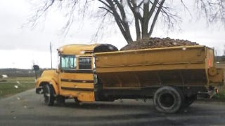 Illustration for article titled It's a school bus! It's a salt truck! No, it's both!
