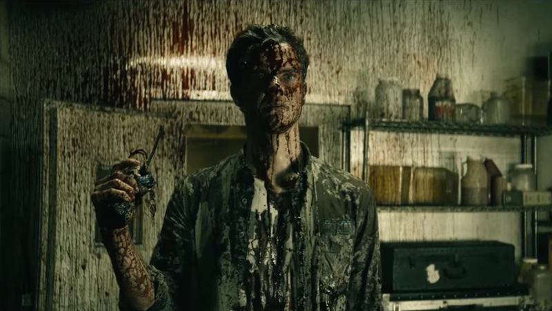Jack Quaid as Hughie in a bloody scene from The Boys.
