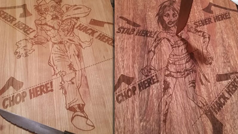 Illustration for article titled Zombie Cutting Boards Are Possibly The Most College Thing Ever