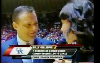 Illustration for article titled Are Spurned Advances The Reason Billy Gillispie Treats Jeanine Edwards Like Crap?