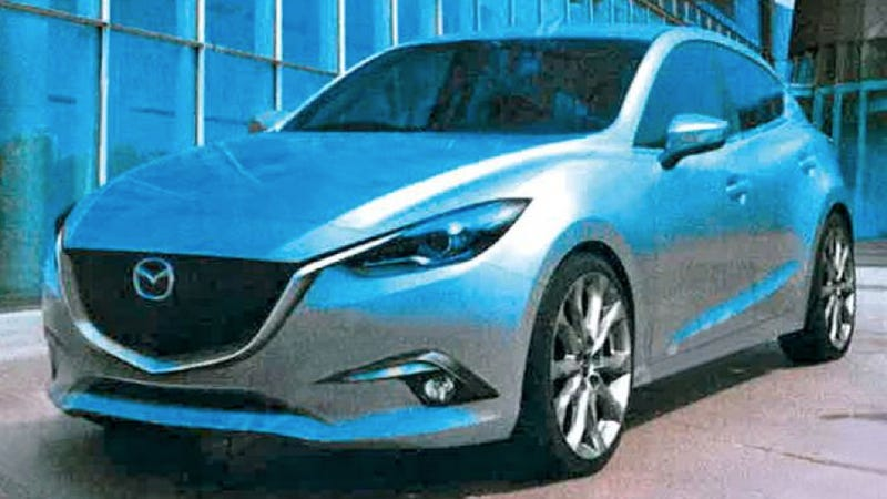 Illustration for article titled Is This The 2014 Mazda3 You're Not Supposed To See Yet?