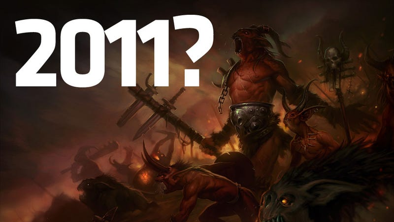 Illustration for article titled Blizzard's Goal is to Release Diablo III This Year