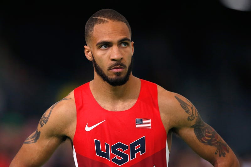Boris Berian did make the World Indoor Championship team and wear its swooshed gear, in March. (Photo credit: Christian Petersen/Getty)