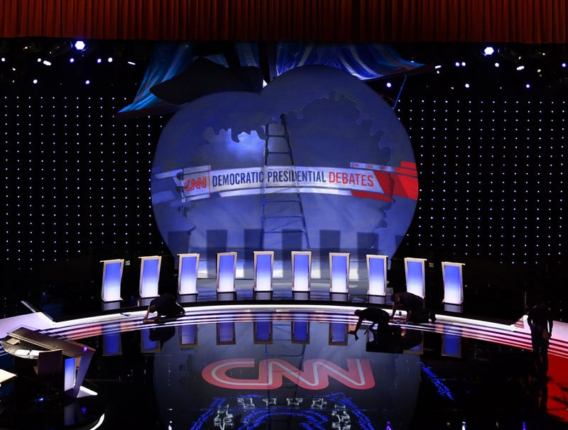 Debate Set Clearly Painted-Over Props From Production Of 'James And