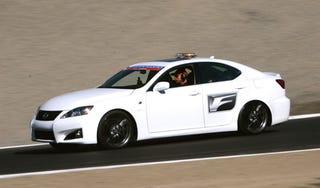 Illustration for article titled Lexus IS-F Carves Raceway Laguna Seca