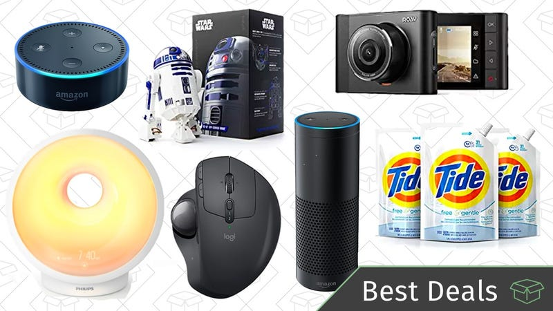 Illustration for article titled Friday's Best Deals: Wake-Up Lights, Amazon Smart Speakers, R2-D2 Droid, and More