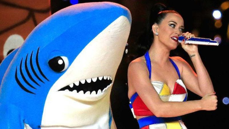 Illustration for article titled Katy Perry's lawyers order guy to stop selling Left Shark figurines