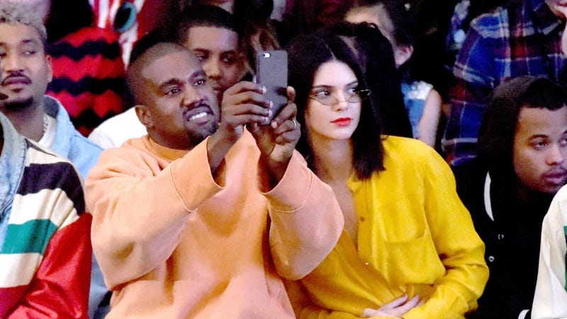 No selfies for Kanye's new Instagram. Credit: Getty Images
