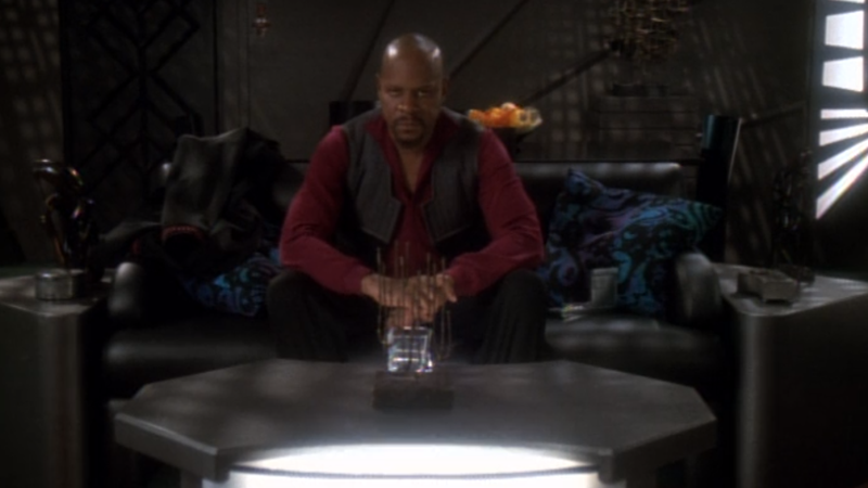"Captain Sisko, sacrificing some of his very soul during the events of ""In the Pale Moonlight."""