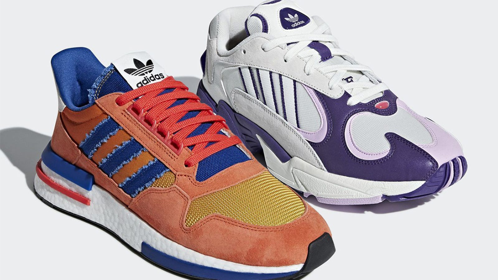 c8210ef628904 Adidas  39  First Two Dragon Ball Sneakers Are Goku  amp  Frieza