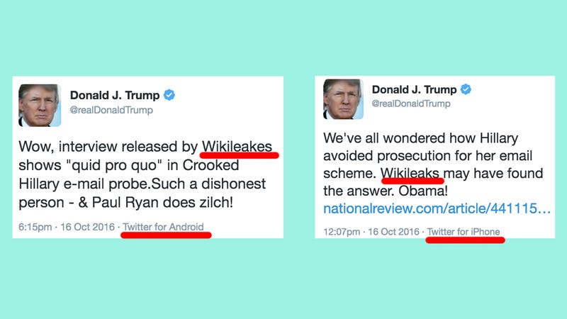 Illustration for article titled Trump Can't Spell 'Wikileaks' But His Campaign Can
