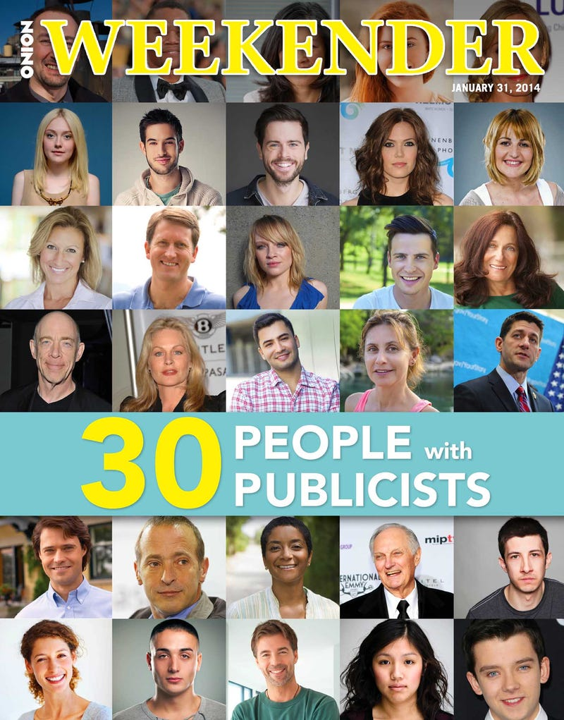 Illustration for article titled 30 People With Publicists
