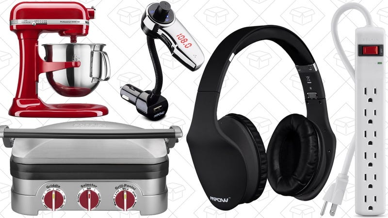Illustration for article titled Today's Best Deals: 3-in-1 Griddler, Bluetooth Headphones, KitchenAid, and More