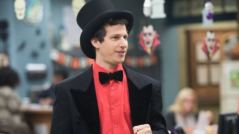 Andy Samberg (in a hat)