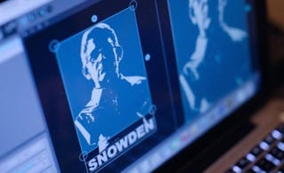 """Illustration for article titled Why Does the Edward Snowden """"Hologram"""" Look Nothing Like Snowden?"""