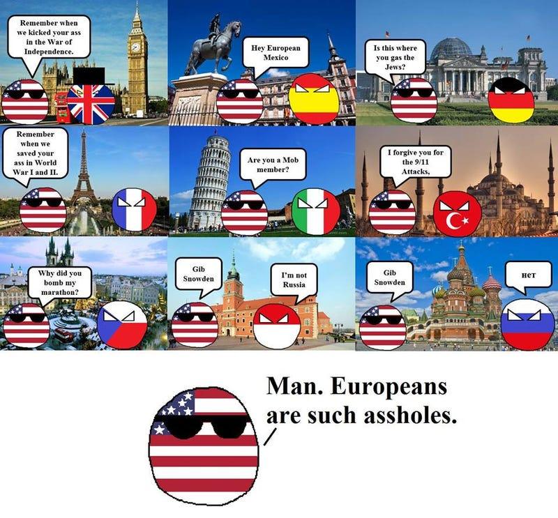 Illustration for article titled Polandball: Europeans Are Assholes