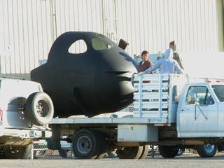Illustration for article titled SpaceShipTwo Spied, May Turn Out to Be A Private Space Turtle